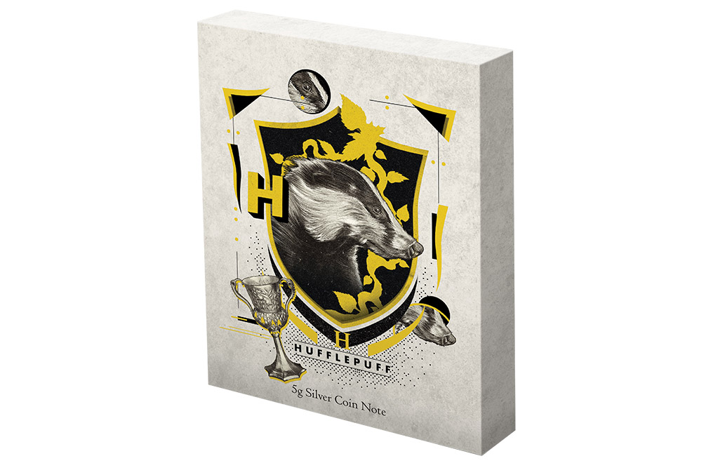 Buy 5 g Silver Coin Note .999 - Harry Potter - Hufflepuff, image 4