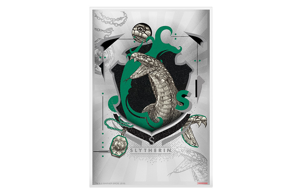 Buy 5 g Silver Coin Note .999 - Harry Potter - Slytherin, image 0