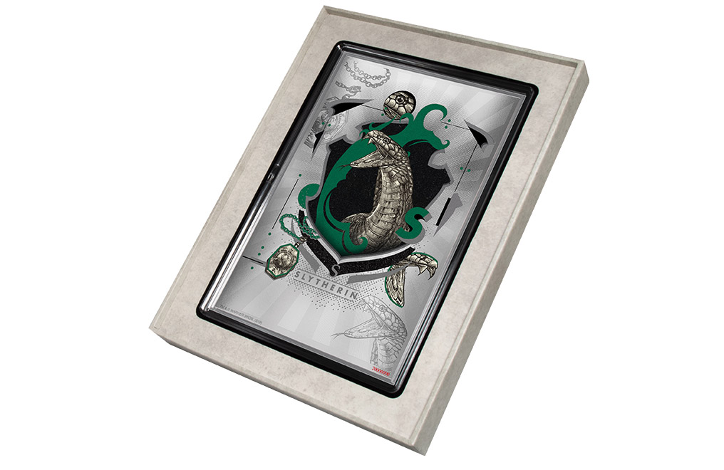 Buy 5 g Silver Coin Note .999 - Harry Potter - Slytherin, image 3