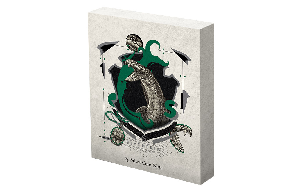 Buy 5 g Silver Coin Note .999 - Harry Potter - Slytherin, image 4