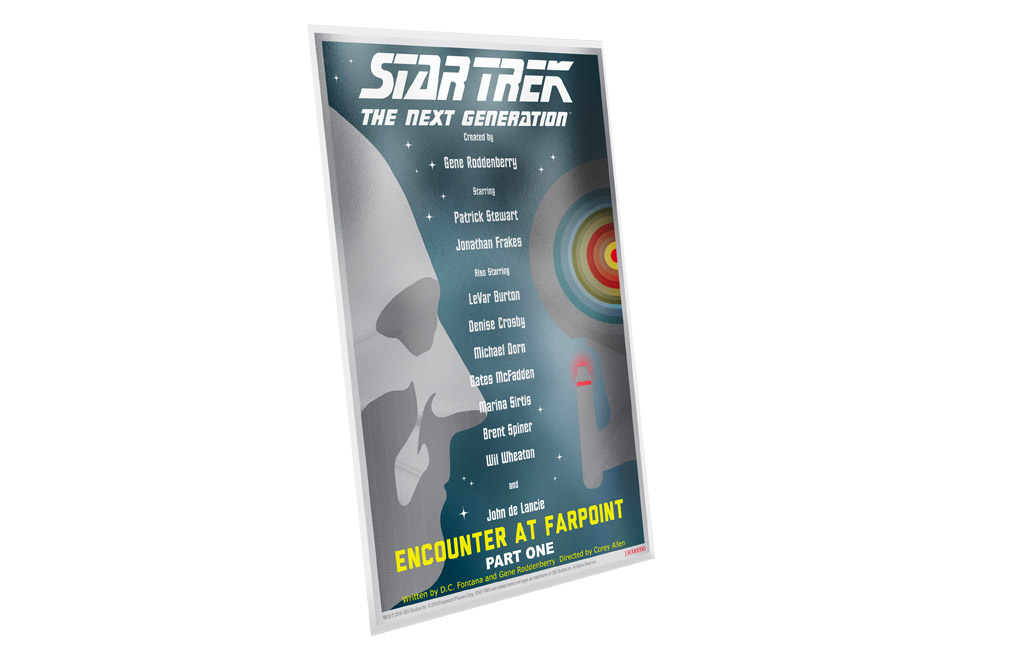 Buy 5 g Silver Coin Note .999- Star Trek: Encounter at Farpoint, image 2