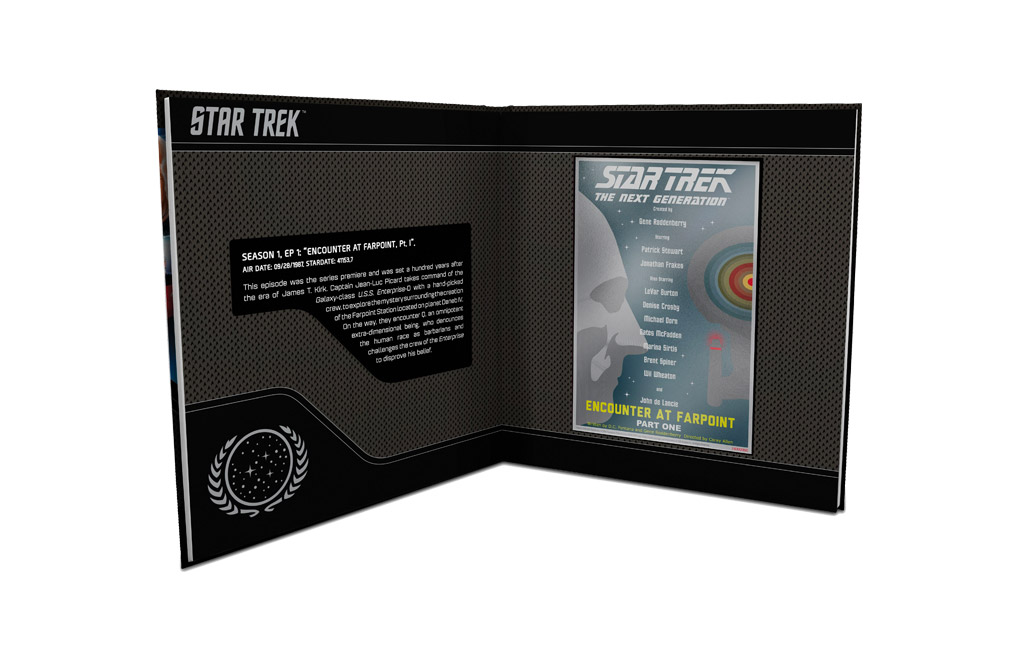 Buy 5 g Silver Coin Note .999- Star Trek: Encounter at Farpoint, image 4