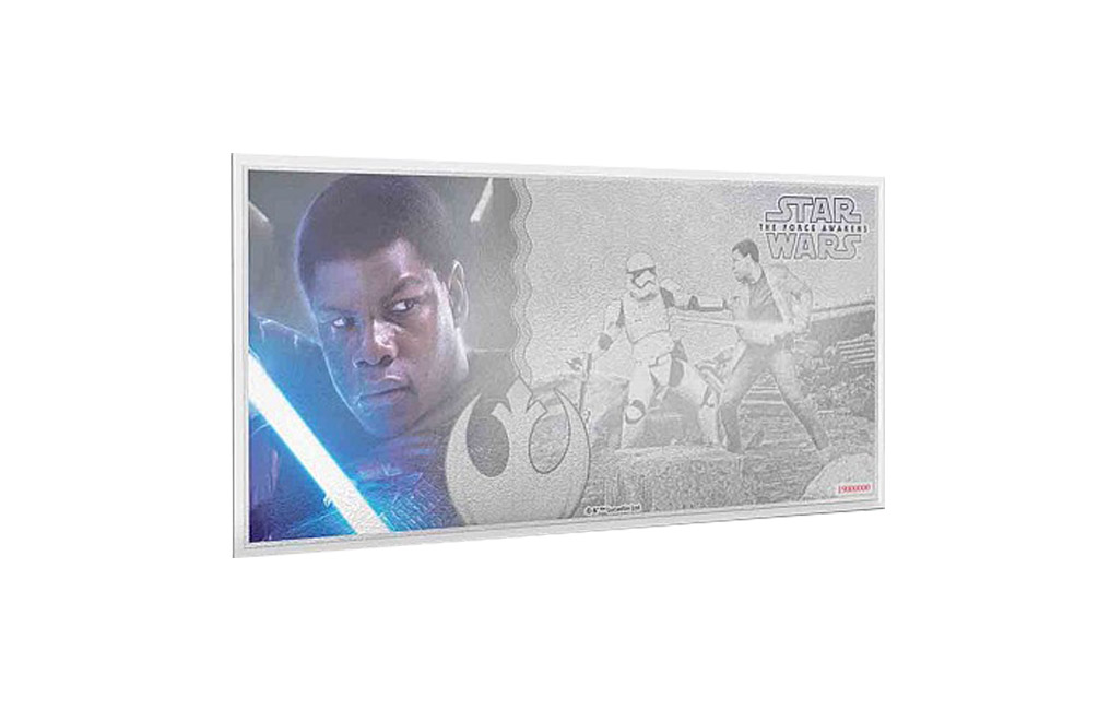Buy 5 g Silver Coin Note .999 - Star Wars-The Force Awakens-Finn, image 0