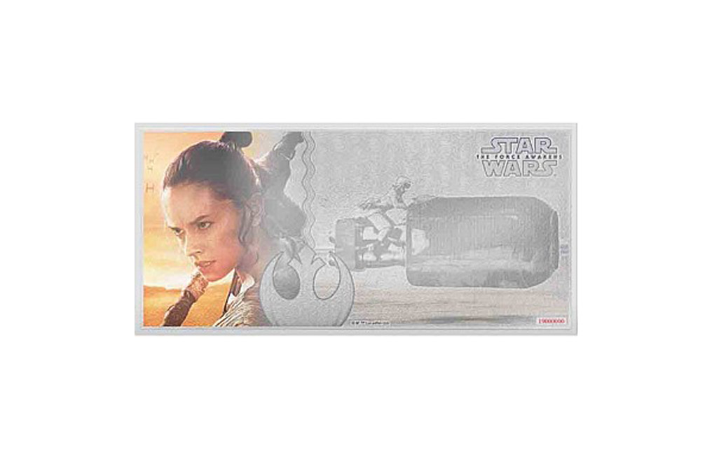 Buy 5 g Silver Coin Note .999-Star Wars- The Force Awakens - Rey, image 0