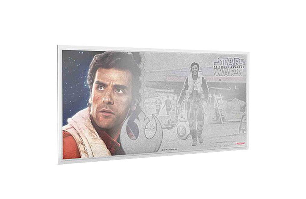 Buy 5 g Silver Coin Note .999 - Star Wars- Poe Dameron, image 0