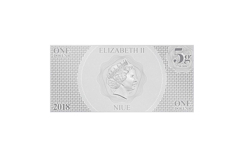 Buy 5 g Silver Coin Note .999 - Star Wars - Princess Leia, image 1