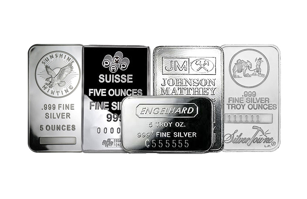 Buy 5 oz Silver Bars, image 0
