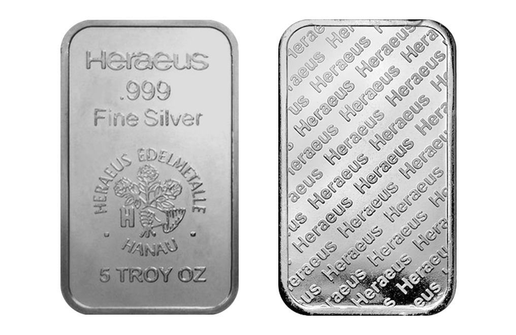 Buy 5 oz Silver Heraeus Bar Tube (10 bars), image 3