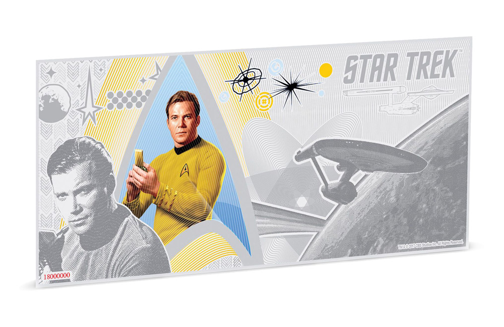 Buy 5 g Silver Coin Note .999 - Star Trek - Captain Kirk, image 0