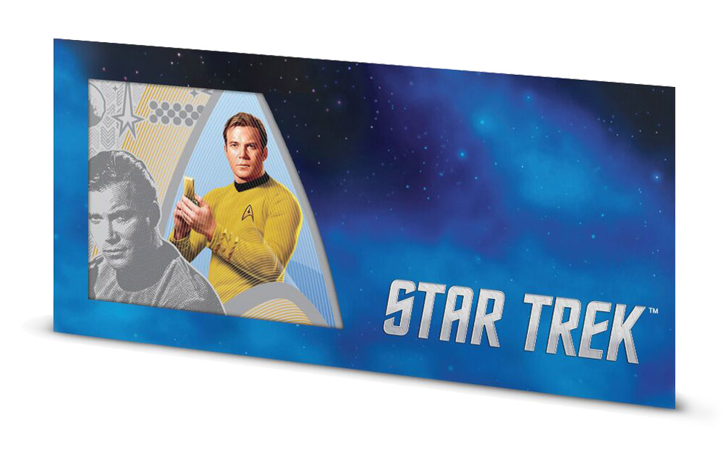 Buy 5 g Silver Coin Note .999 - Star Trek - Captain Kirk, image 2