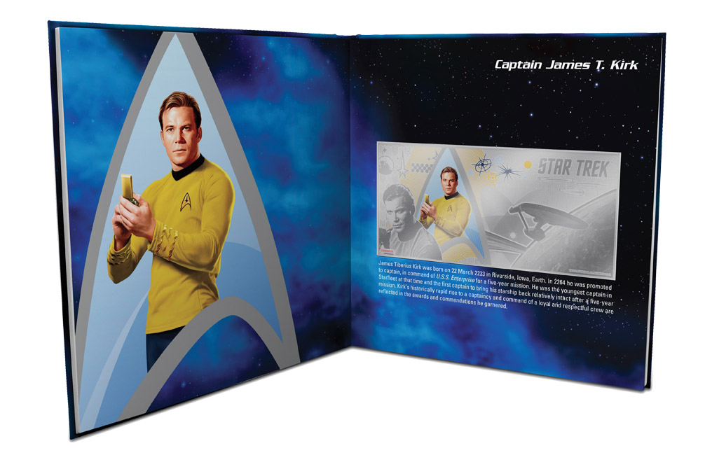 Buy 5 g Silver Coin Note .999 - Star Trek - Captain Kirk, image 3