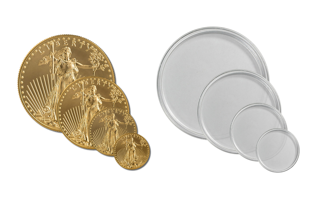 Buy For 1 oz Gold American Eagle and all other 33.00 mm Diameter Coins (10 per box), image 0