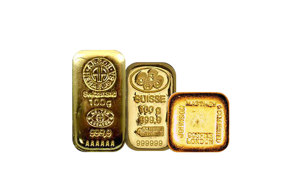 Sell 100 g Gold Bar Cast, image 0
