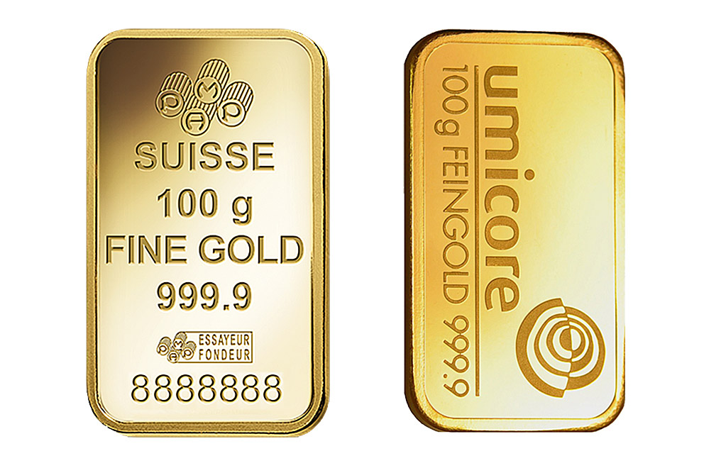 100 g Gold Minted Bar 0.9999, image 1