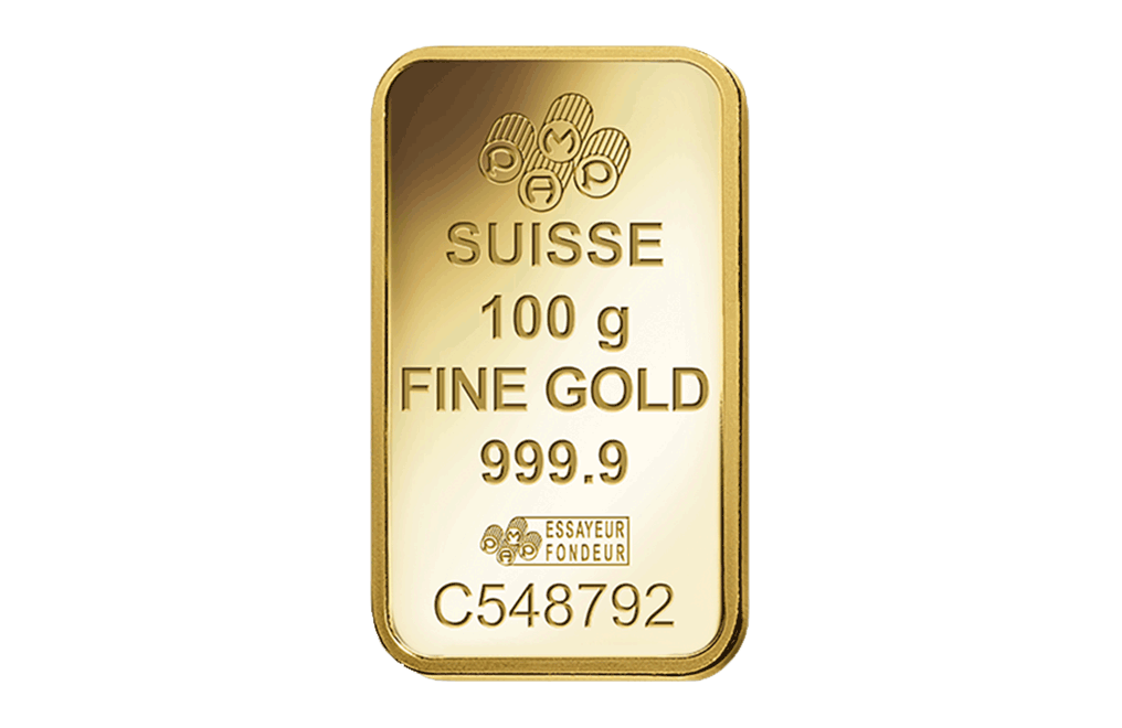 100 g Gold Minted Bar 0.9999, image 2