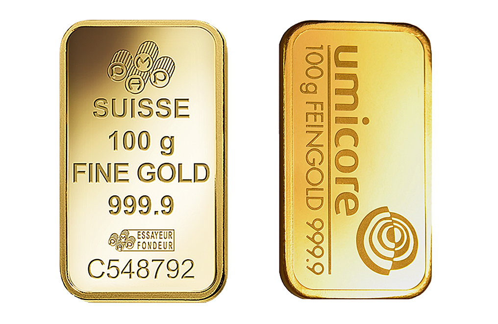 100 g Gold Minted Bar 0.9999, image 0