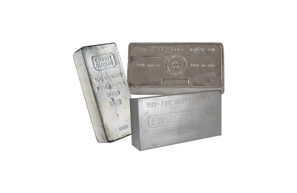 100 oz Silver Bar 0.999, image 1