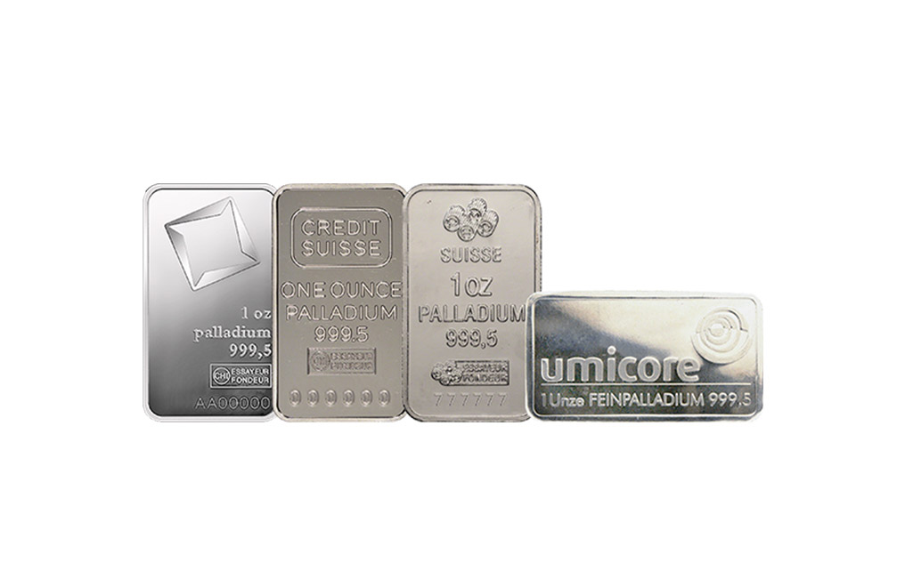 Sell 1 oz Palladium Bars, image 0