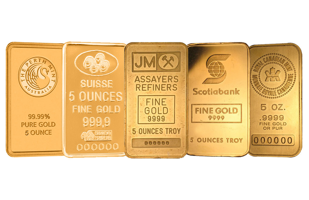 Sell 5 oz Gold Bars, image 0