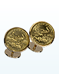 Gold Cufflinks - 1/10th oz Gold Eagle (various years)