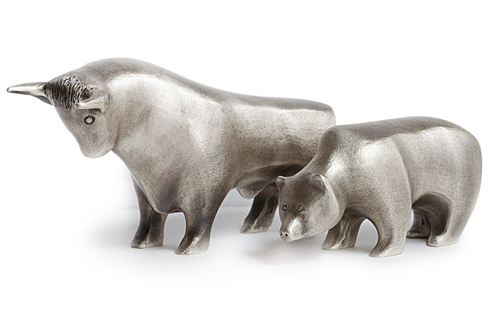 Sterling Silver Bull and Bear .925, image 0