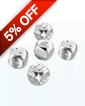 Five-Piece Sterling Silver Dice Set .925