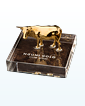 Nguni Gold Cow Statue