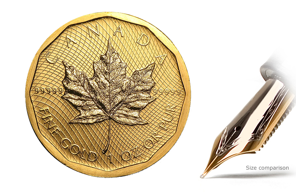 Sell 1 oz Gold Maple Leaf Coins 99999 Special, image 2