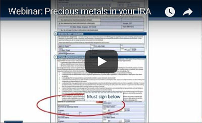 Save intelligently! Add precious metals to your self-directed IRA. Free Webinar.